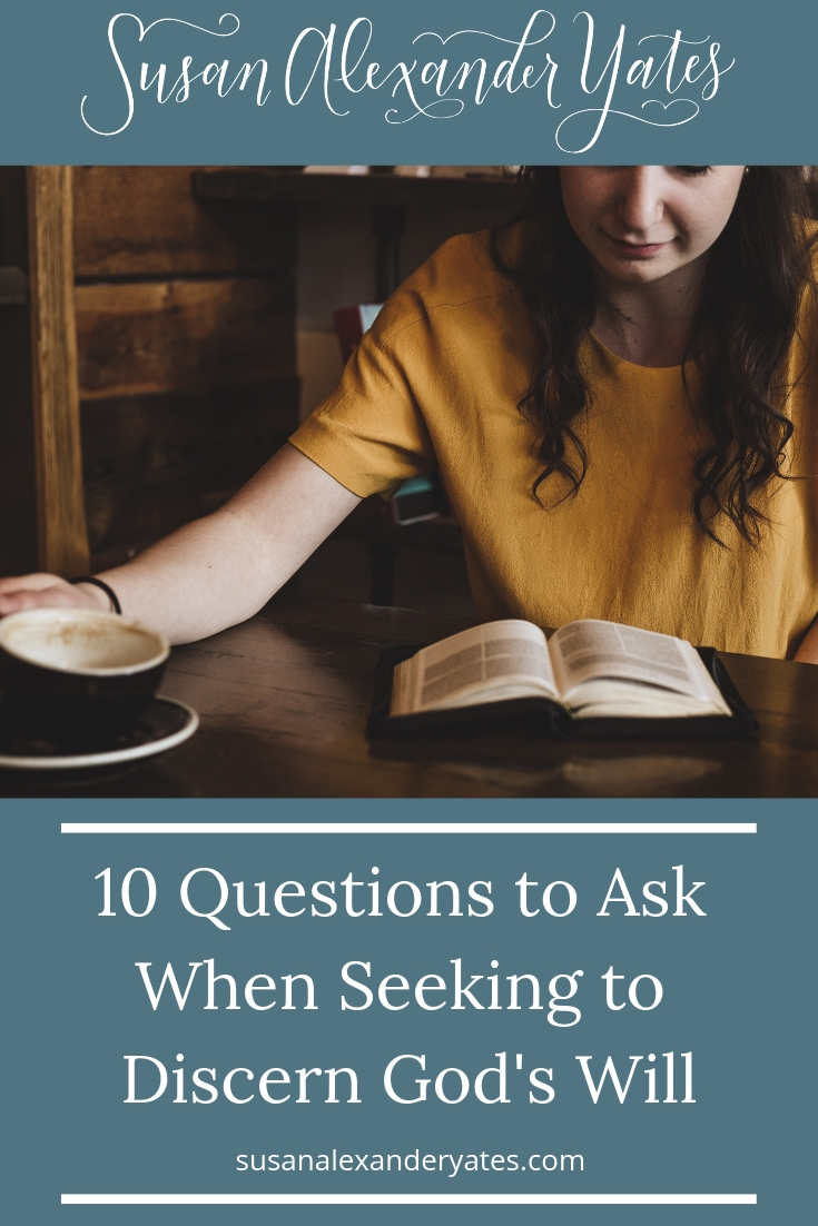 I often struggle with trying to discern what God wants me to do. These ten questions have helped me and I hope they will be helpful to you as well.