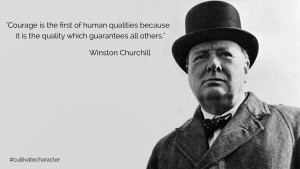 Churchill Quote Courage Blog