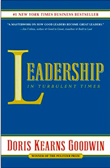 book cover: leadership in turbulent times