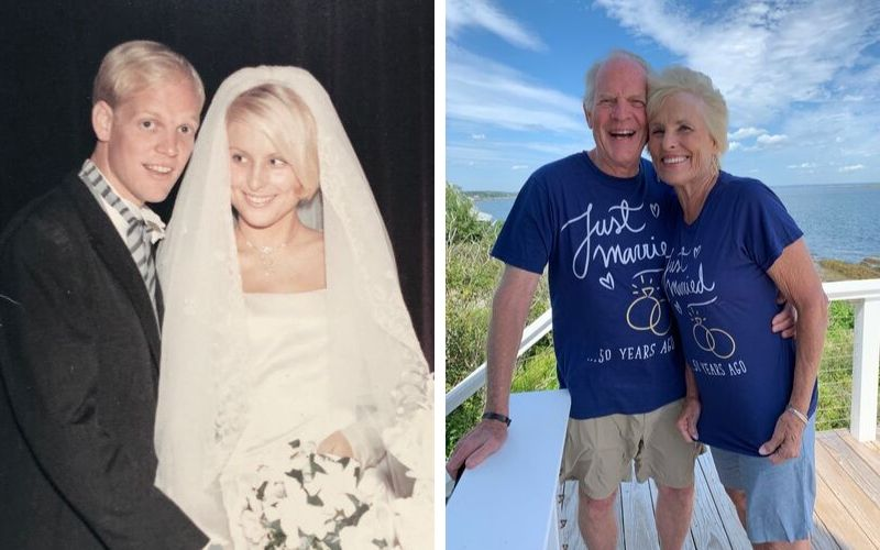 John and Susan Yates - wedding photo and 50 year anniversary photo