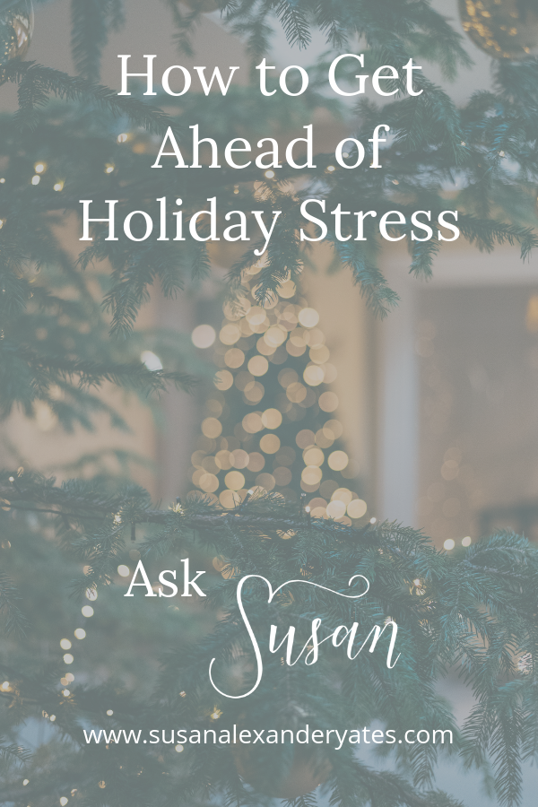 Do you feel it already -- the holiday stress?  Christmas can be overwhelming, can't it? I'd love to help you find ways to make the holidays less stressful this year!  In this video, I'm giving you three quick tips that will help you do just that.  (Plus, I've got a Christmas gift for you!  Watch to the end to see what it is.)